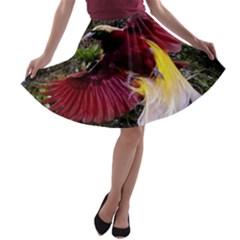 Cendrawasih Beautiful Bird Of Paradise A Line Skater Skirt