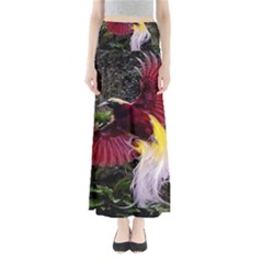 Cendrawasih Beautiful Bird Of Paradise Full Length Maxi Skirt