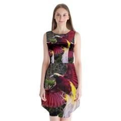 Cendrawasih Beautiful Bird Of Paradise Sleeveless Chiffon Dress