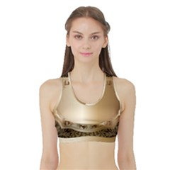 Floral 3 Sports Bra With Border