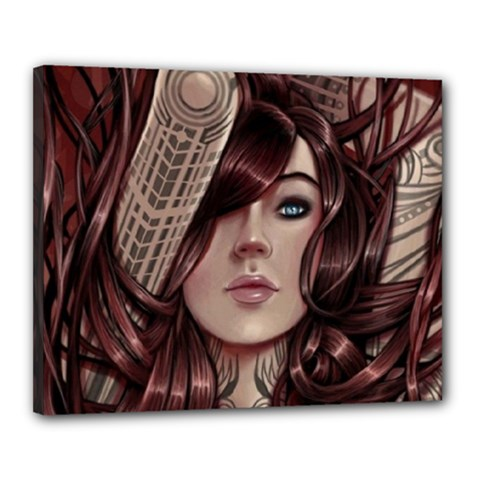 Beautiful Women Fantasy Art Canvas 20  X 16