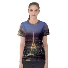 Paris At Night Women s Sport Mesh Tee