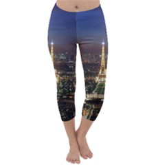 Paris At Night Capri Winter Leggings