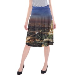 Paris At Night Midi Beach Skirt
