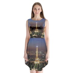 Paris At Night Sleeveless Chiffon Dress