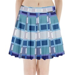 Blockedin Pleated Mini Skirt