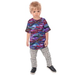 Fairy Earth Tree Texture Pattern Kids Raglan Tee