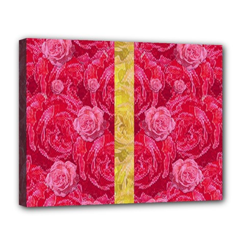 Rose And Roses And Another Rose Canvas 14  X 11