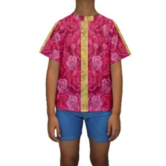 Rose And Roses And Another Rose Kids  Short Sleeve Swimwear