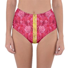 Rose And Roses And Another Rose Reversible High Waist Bikini Bottoms