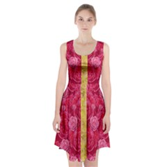 Rose And Roses And Another Rose Racerback Midi Dress