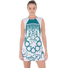 Seal Of Hamedan  Lace Up Front Bodycon Dress