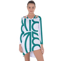 Seal Of Isfahan  Asymmetric Cut Out Shift Dress