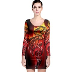 Dragon Fire Long Sleeve Bodycon Dress