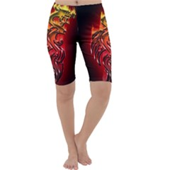 Dragon Fire Cropped Leggings