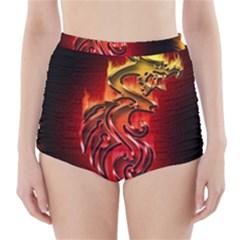Dragon Fire High Waisted Bikini Bottoms