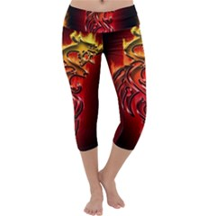 Dragon Fire Capri Yoga Leggings
