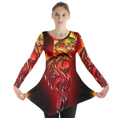 Dragon Fire Long Sleeve Tunic