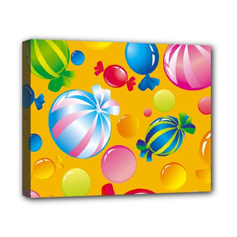 Sweets And Sugar Candies Vector  Canvas 10  X 8