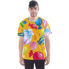 Sweets And Sugar Candies Vector  Men s Sports Mesh Tee