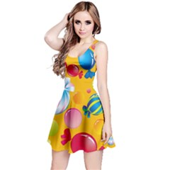 Sweets And Sugar Candies Vector  Reversible Sleeveless Dress