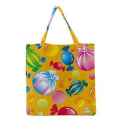 Sweets And Sugar Candies Vector  Grocery Tote Bag