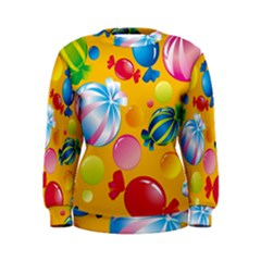 Sweets And Sugar Candies Vector  Women s Sweatshirt