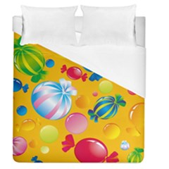 Sweets And Sugar Candies Vector  Duvet Cover (queen Size)