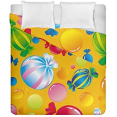 Sweets And Sugar Candies Vector  Duvet Cover Double Side (california King Size)