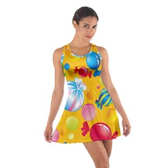 Sweets And Sugar Candies Vector  Cotton Racerback Dress