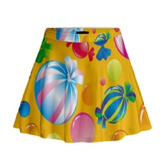 Sweets And Sugar Candies Vector  Mini Flare Skirt