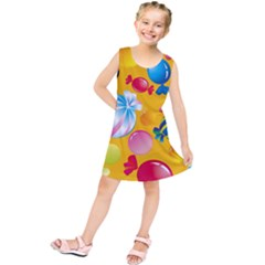 Sweets And Sugar Candies Vector  Kids  Tunic Dress