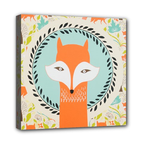 Foxy Fox Canvas Art Print Traditional Mini Canvas 8  X 8