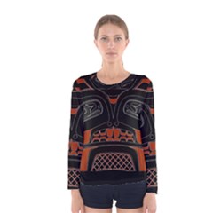 Traditional Northwest Coast Native Art Women s Long Sleeve Tee