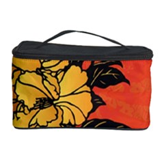 Vector Asian Flowers Cosmetic Storage Case