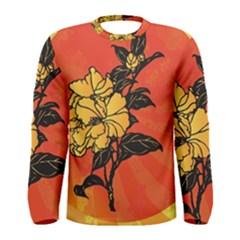 Vector Asian Flowers Men s Long Sleeve Tee