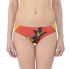 Vector Asian Flowers Hipster Bikini Bottoms