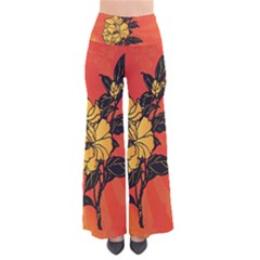 Vector Asian Flowers Pants