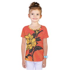 Vector Asian Flowers Kids  One Piece Tee