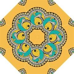 Madhubani Fish Indian Ethnic Pattern Hook Handle Umbrellas (large)