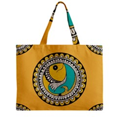 Madhubani Fish Indian Ethnic Pattern Zipper Mini Tote Bag