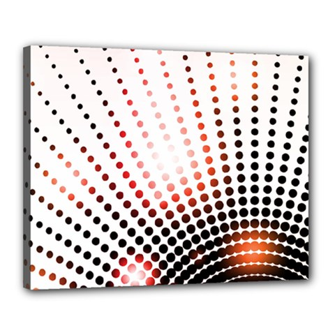 Radial Dotted Lights Canvas 20  X 16