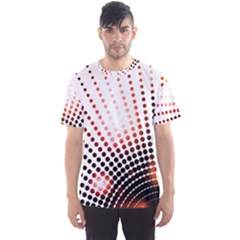 Radial Dotted Lights Men s Sports Mesh Tee
