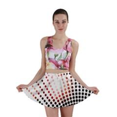 Radial Dotted Lights Mini Skirt