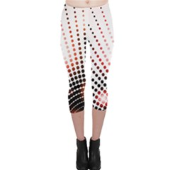 Radial Dotted Lights Capri Leggings