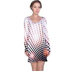 Radial Dotted Lights Long Sleeve Nightdress