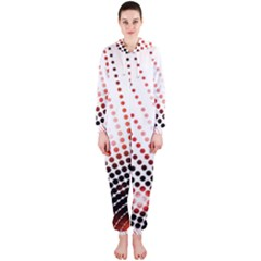 Radial Dotted Lights Hooded Jumpsuit (ladies)