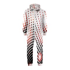 Radial Dotted Lights Hooded Jumpsuit (kids)