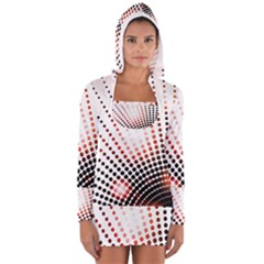 Radial Dotted Lights Long Sleeve Hooded T Shirt