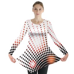 Radial Dotted Lights Long Sleeve Tunic